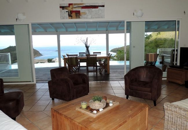 Villa in Anse Marcel - SUPERB VILLA WITH IMPREGNABLE SEA VIEW AND POOL - ANSE MARCEL BEACH