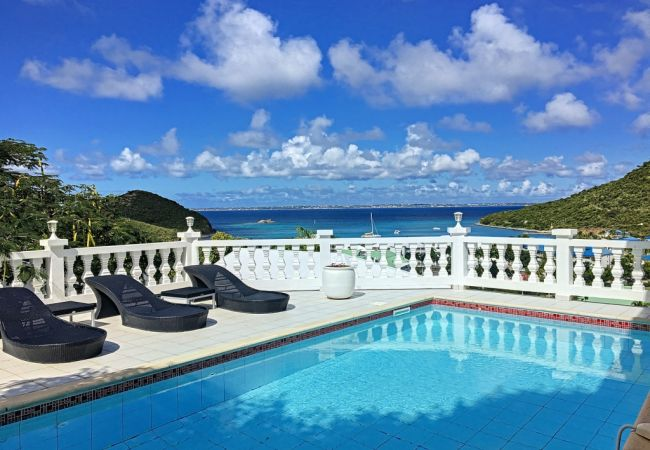 Villa in Anse Marcel - Villa PRINCESSE - Superb villa on the heights, overlooking the bay, refined decoration. Peace and quiet guaranteed